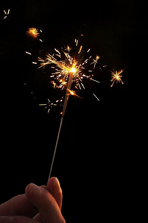 Timelapse Photography of Person Holding Sparkler