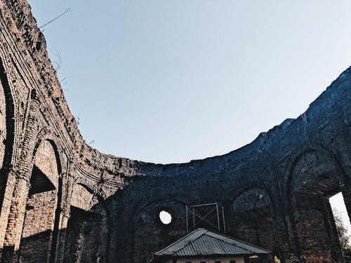 廢墟, 教會, 磚塊, 红砖 的 免费素材照片
