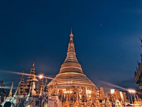 Fotos de stock gratuitas de Budismo, budista, luz de noche, pagoda