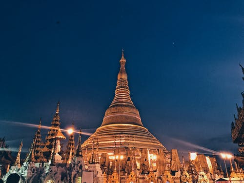shwedagon宝塔, 佛教, 佛教徒, 宗教 的 免费素材照片