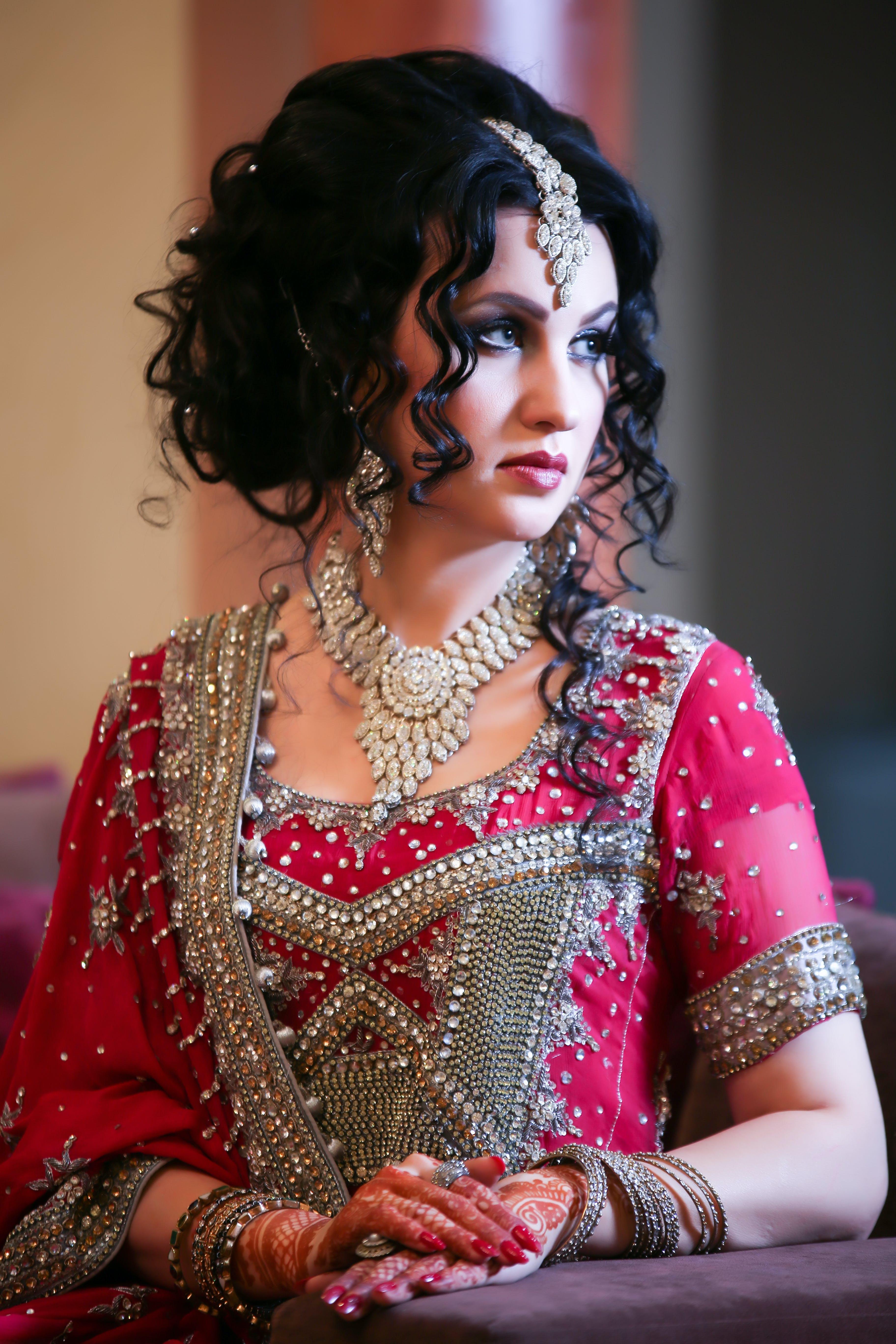 Free stock photo of bridal, bride, make up, wedding dress