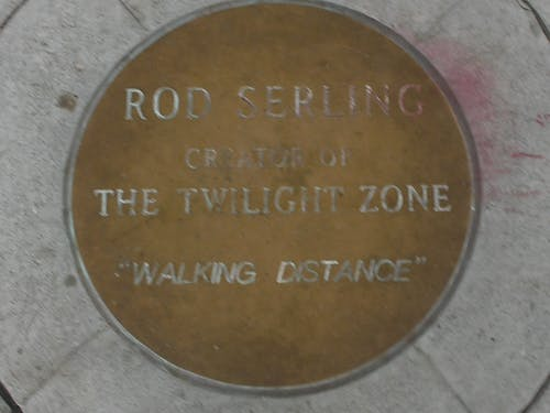 "Free stock photo of ""Rod serling"" Plaque in Gazebo, ""Twilight Zone"""