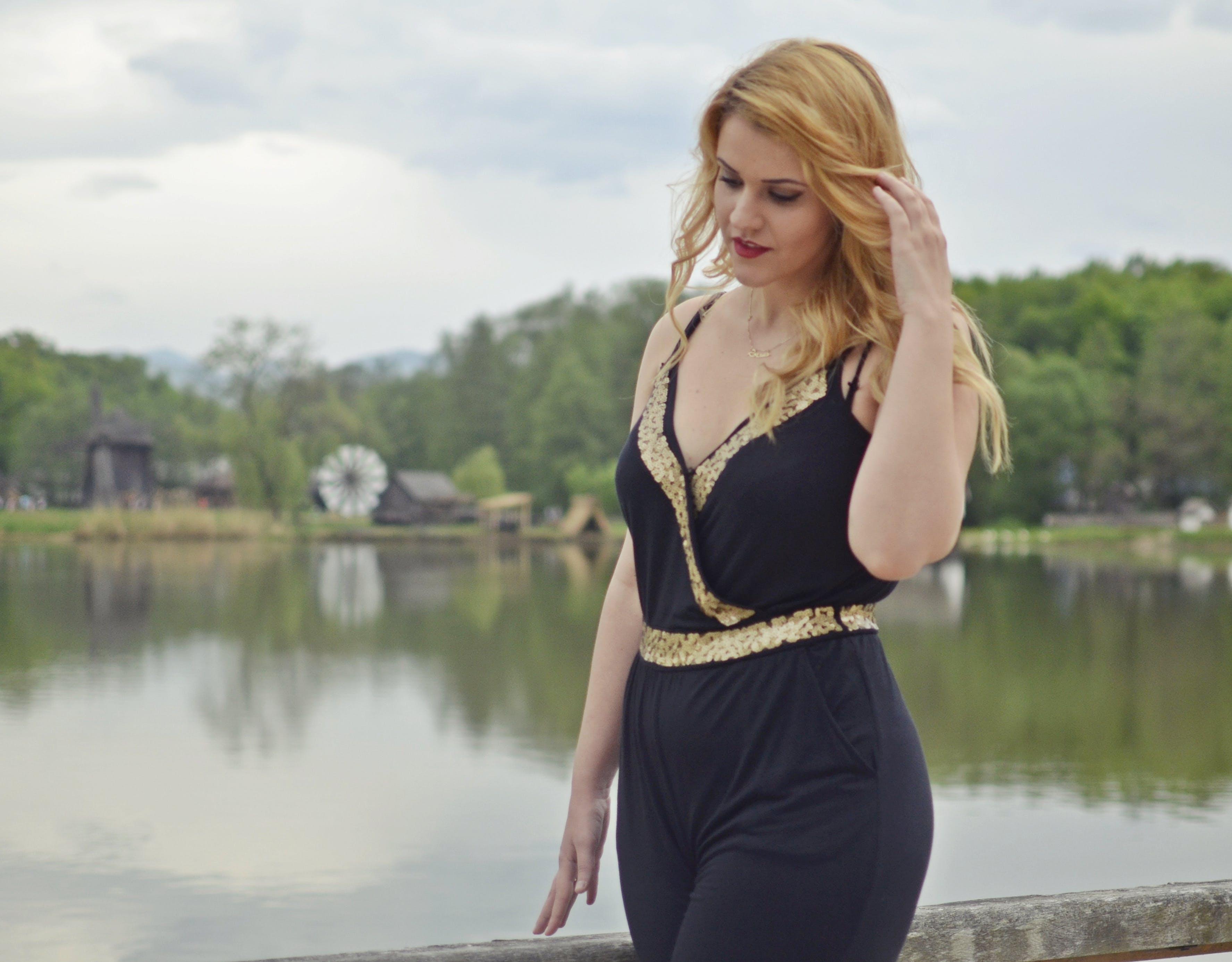 Free stock photo of nature, girl, lake, beautiful