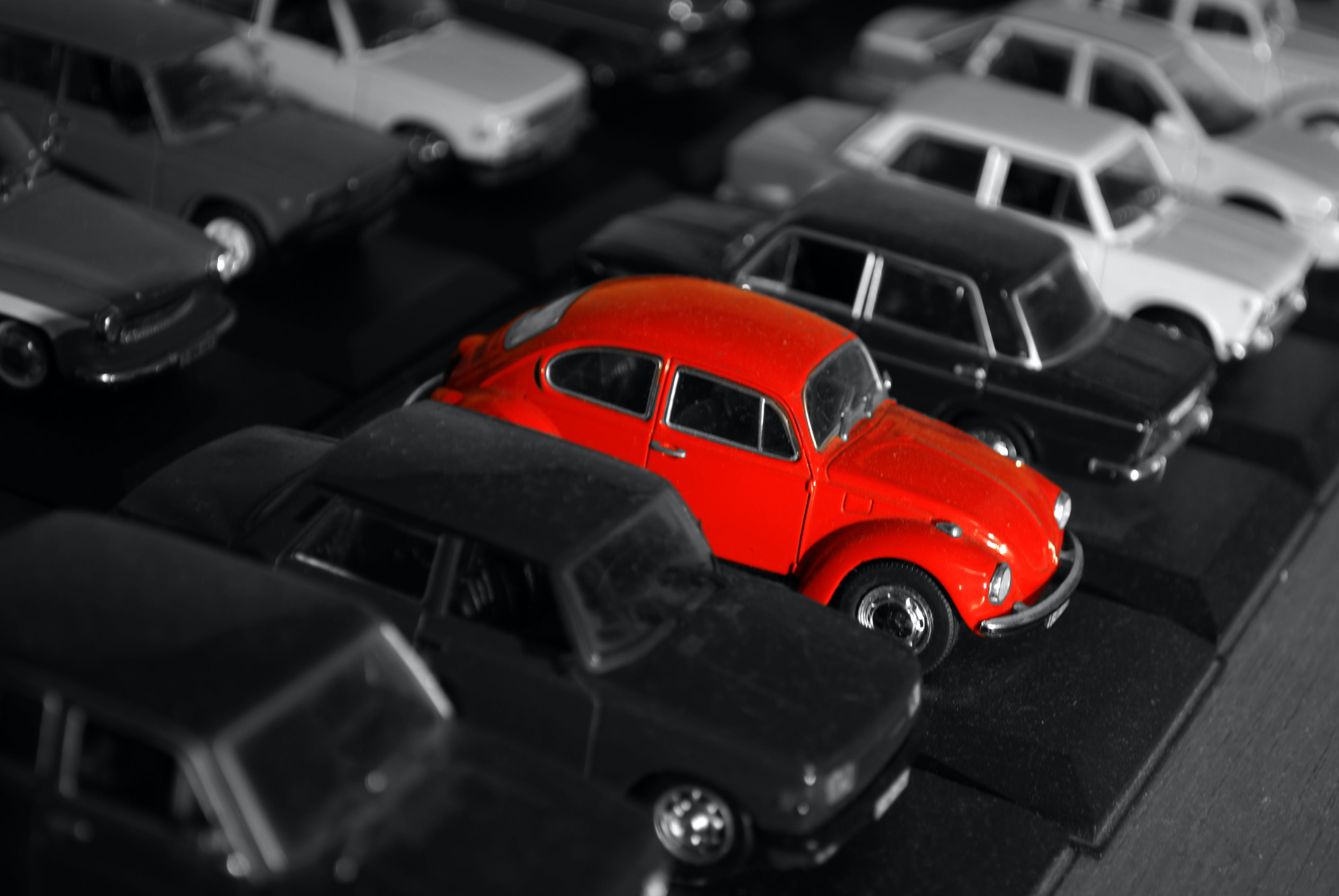 Red Beetle Car Toy