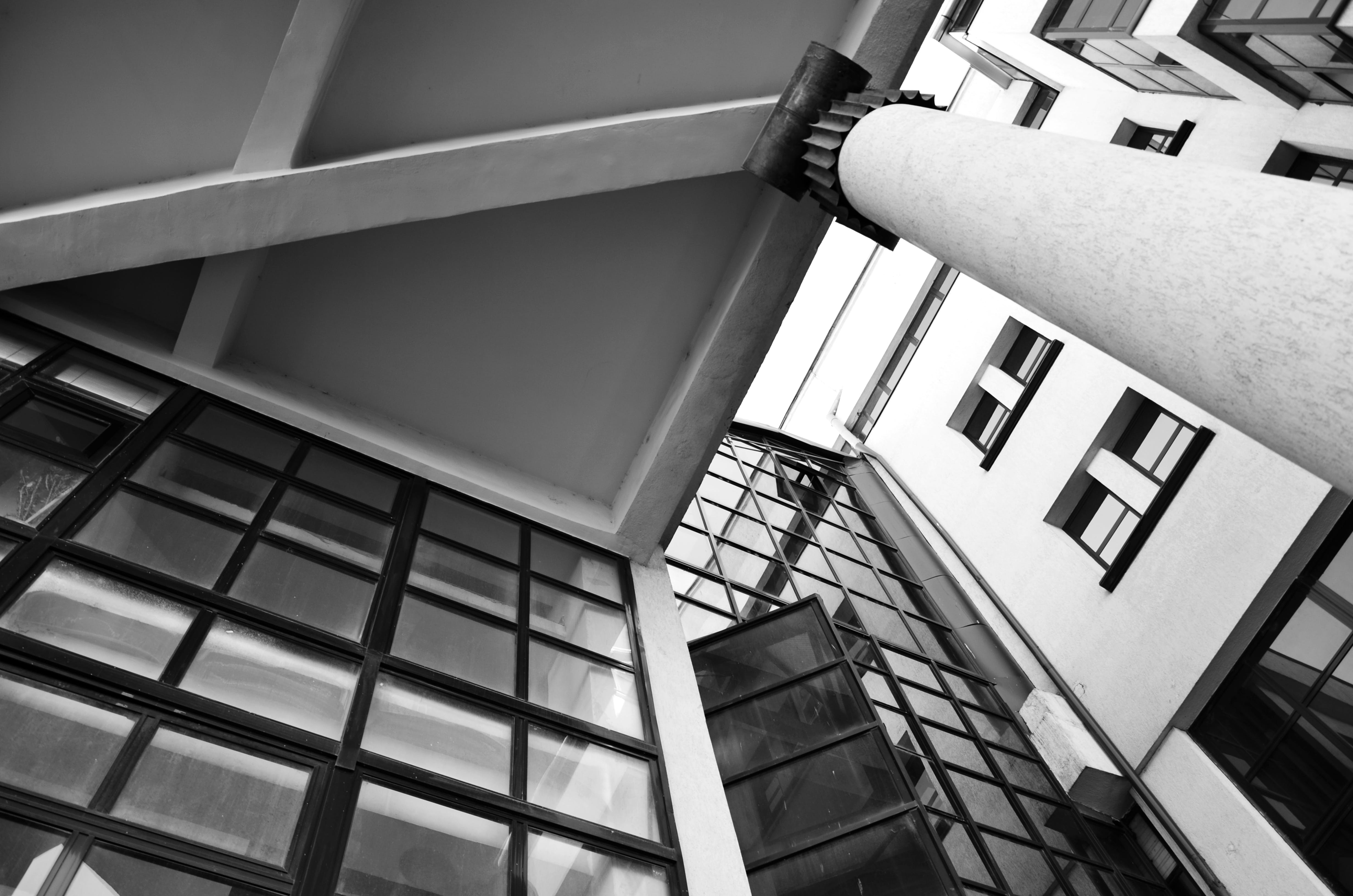 Free stock photo of angles, architecture, black white, building