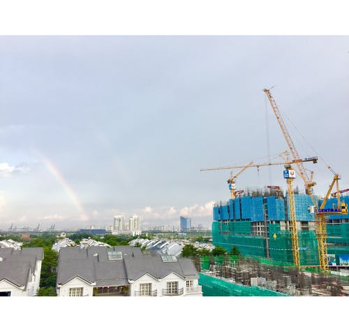 Gratis stockfoto met bouw, Ho Chi Minh City, middag, regenboog