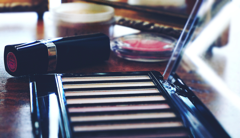 Lipstick Near Eyeshadow Palette