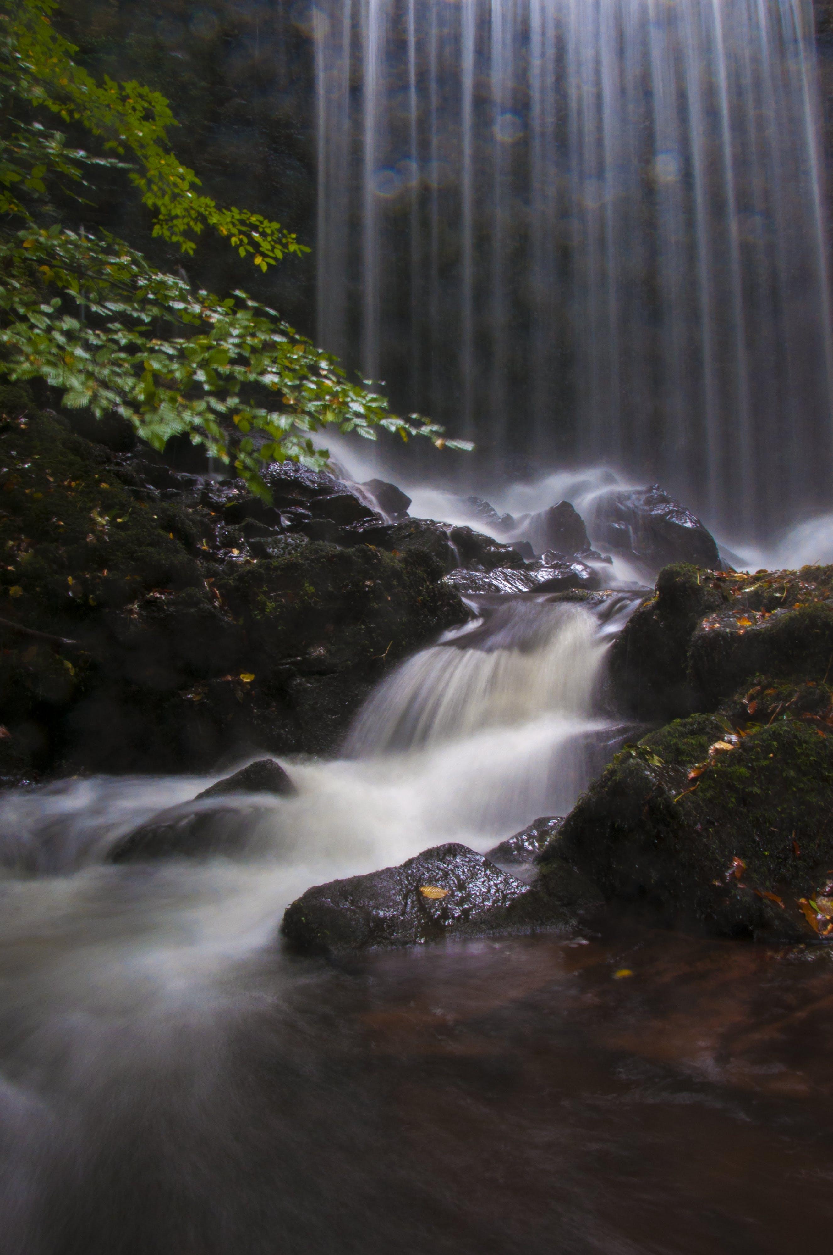 akarsu, akış, çağlayanlar, doğa içeren Ücretsiz stok fotoğraf