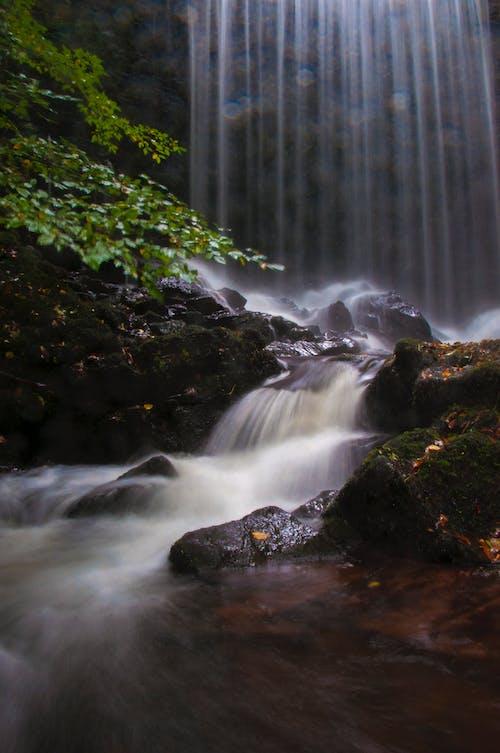 Imagine de stoc gratuită din apă, cascade, curent, expunere lungă