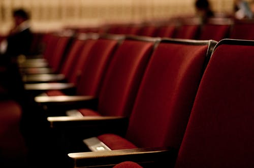 Free stock photo of red, rows of seats, seats, theater