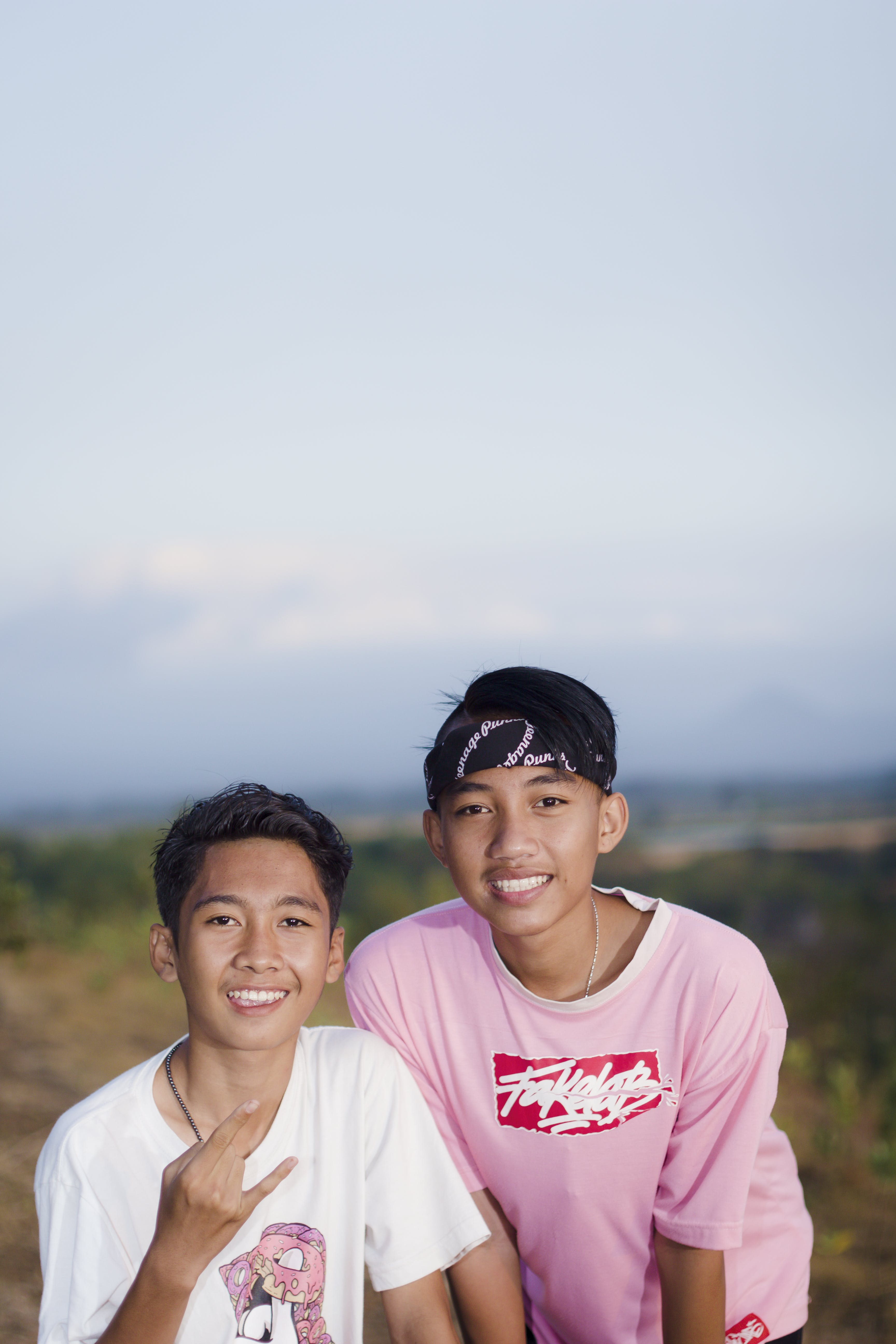 Two Boy's Taking Photo