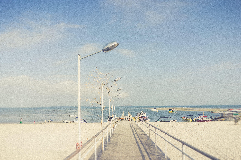 Free stock photo of beach, blue sky, deck, sunday