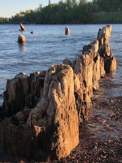 Photos gratuites de lac supérieur, ruines du quai
