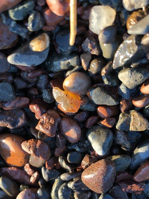Gratis lagerfoto af agater, solnedgang sten, sø klipper
