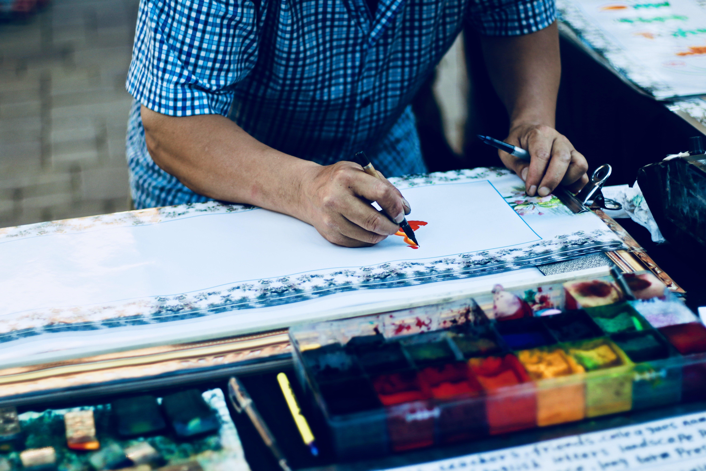 Základová fotografie zdarma na téma kresba, muž, osoba, umělec