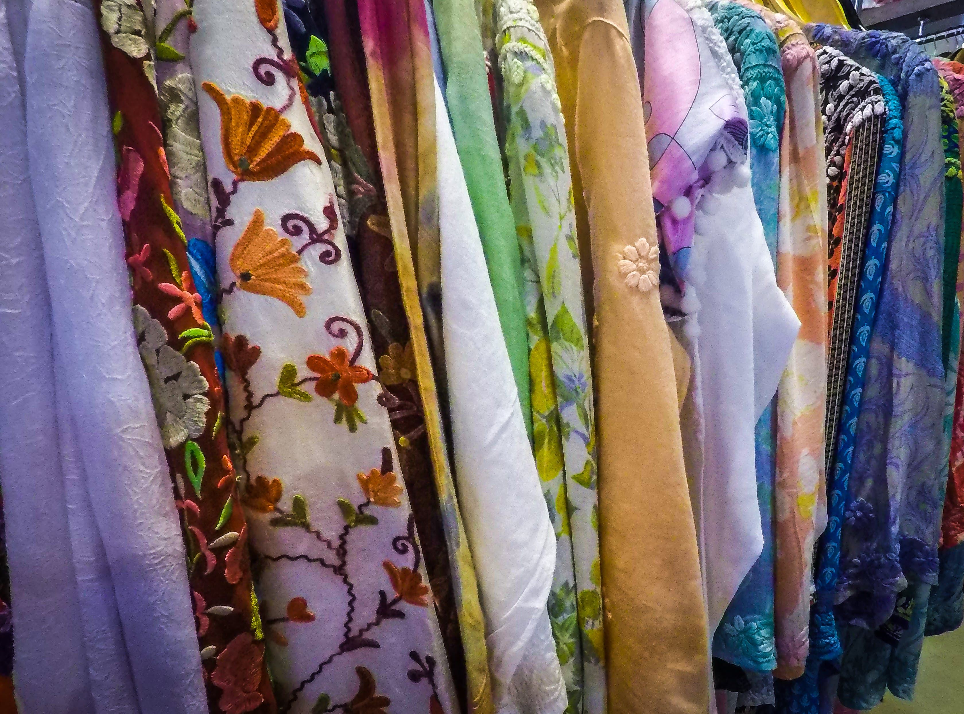 Free stock photo of clothes, colourful, background