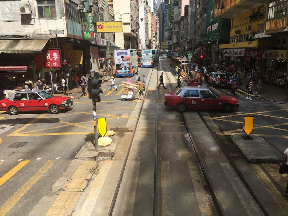 タクシー, 道路の無料の写真素材
