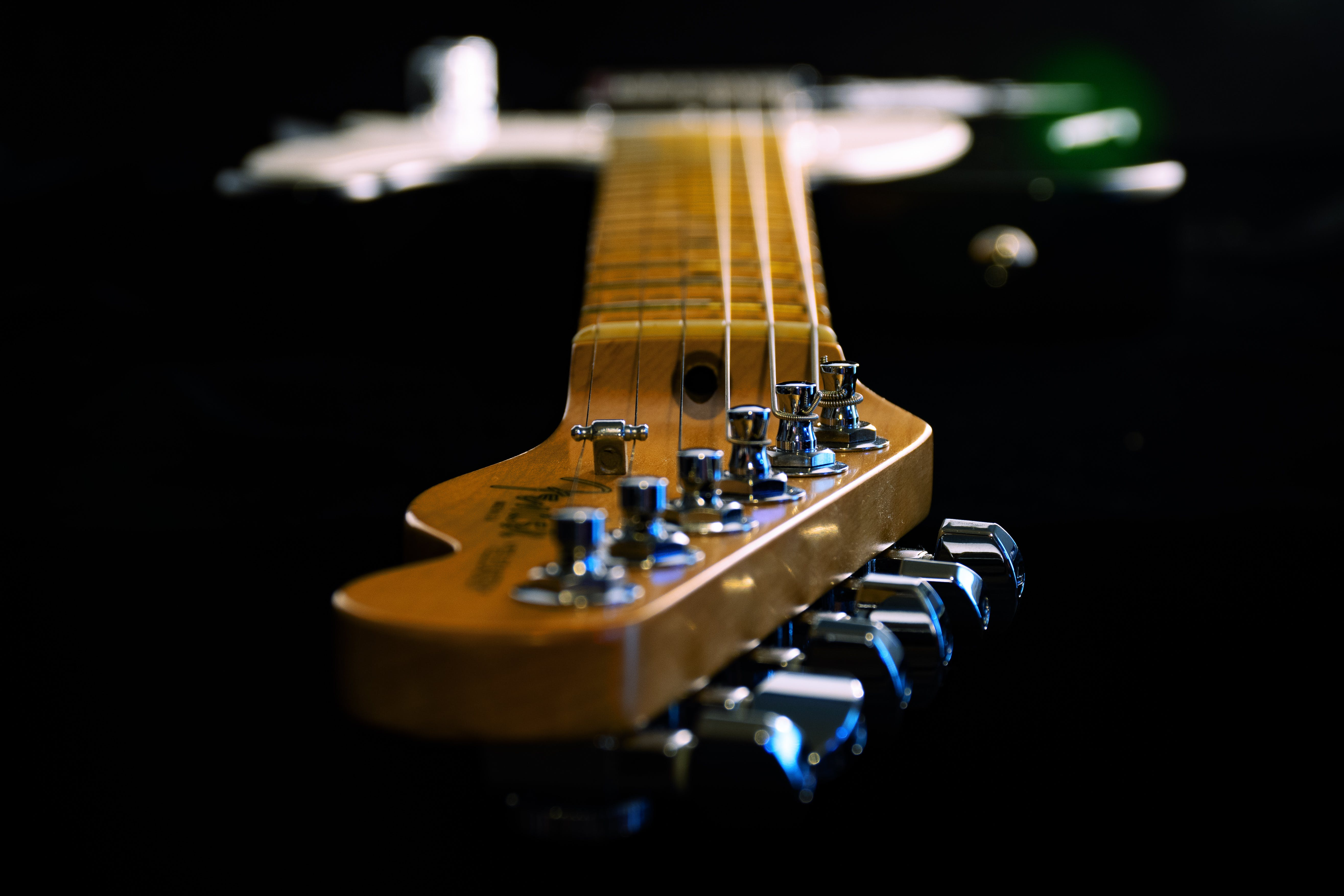 Close Up Photo Of Electric Guitar