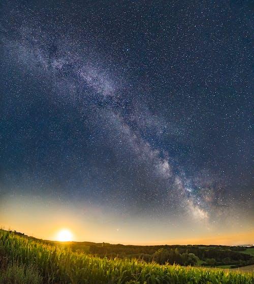갤럭시, 경치가 좋은, 바이에른, 밤의 무료 스톡 사진