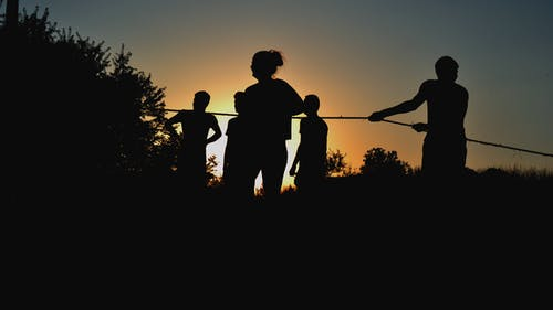 Free stock photo of evening, rope, sunset, teenagers