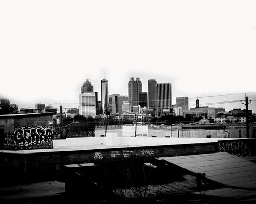 Free stock photo of black and white, buildings, city, skyline