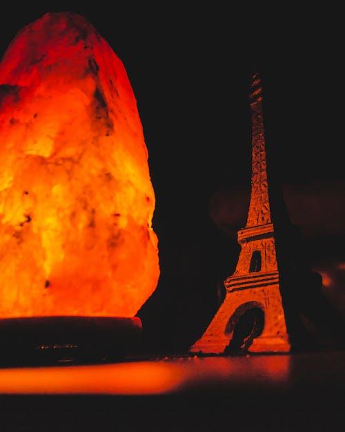 Free stock photo of eiffel tower, lamp, orange, salt