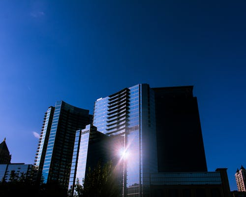 Free stock photo of architecture, blue skies, blue sky, building