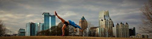 Free stock photo of buildings, city park, fitness model, gymnastics