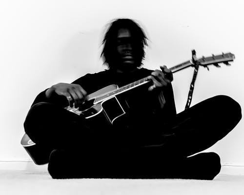 Free stock photo of african american, guitar, music, musician