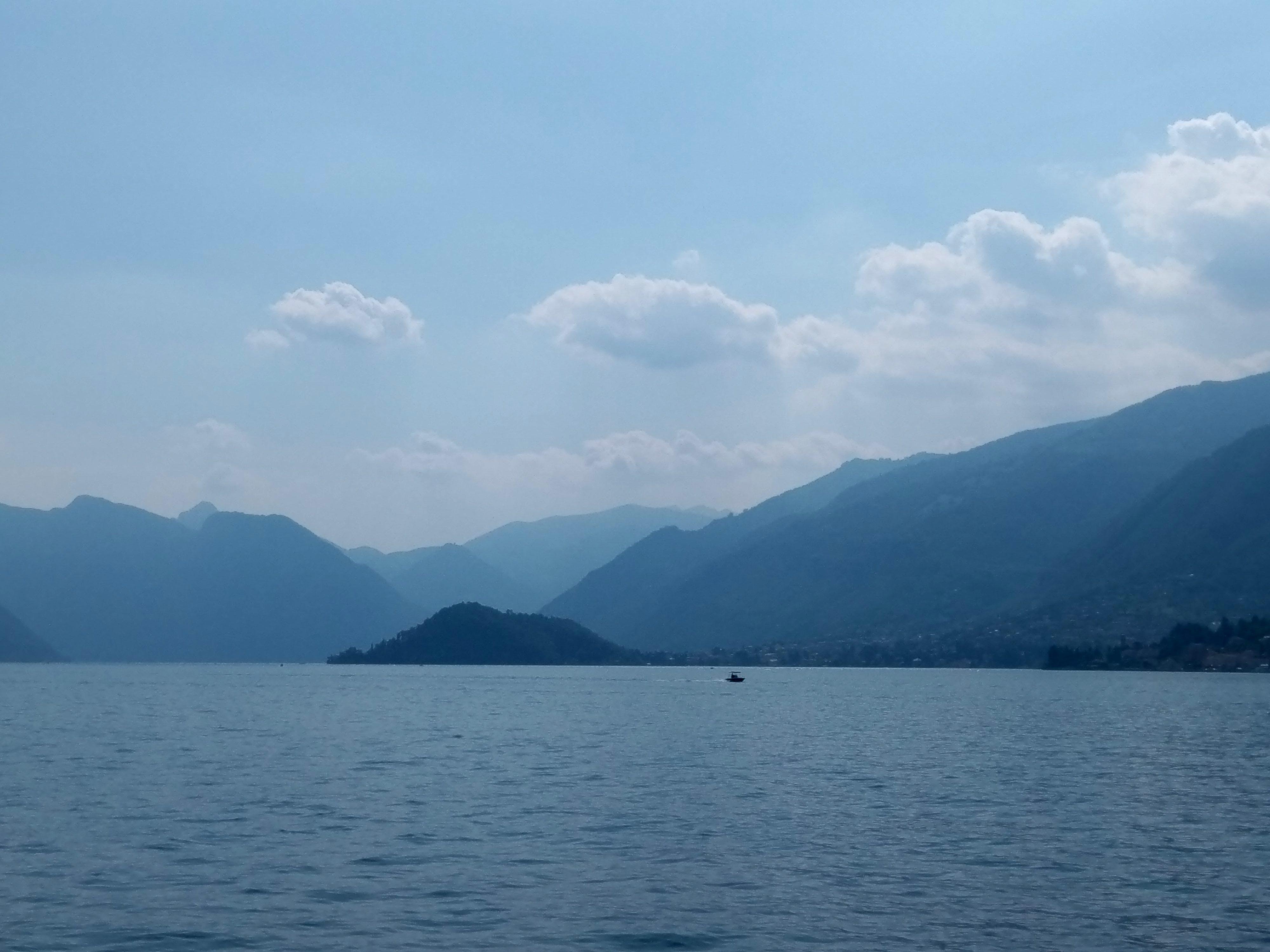 Free stock photo of mountains, view, lake lugano