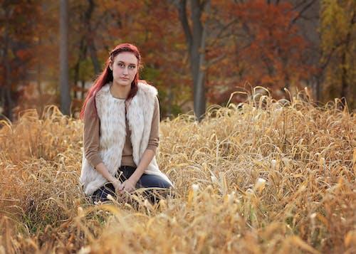 Immagine gratuita di bellezza, erba, luce naturale, moda