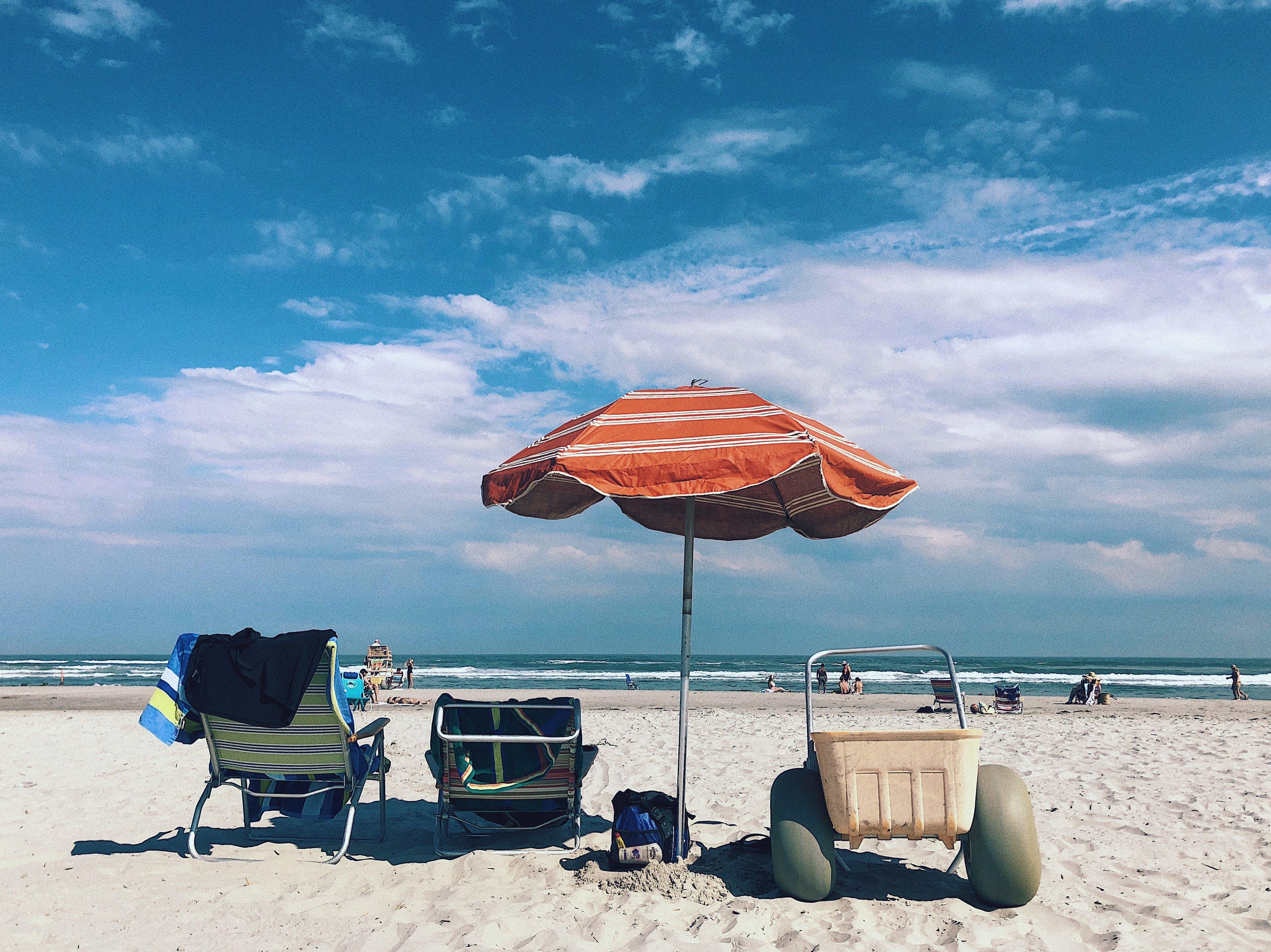 Kostenloses Stock Foto zu natur, strand, sand, wolken