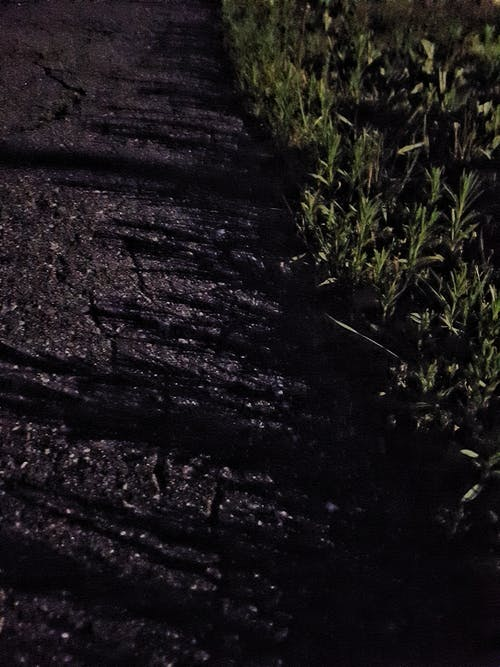 Free stock photo of Ashfalt, asphalt, dark, grass