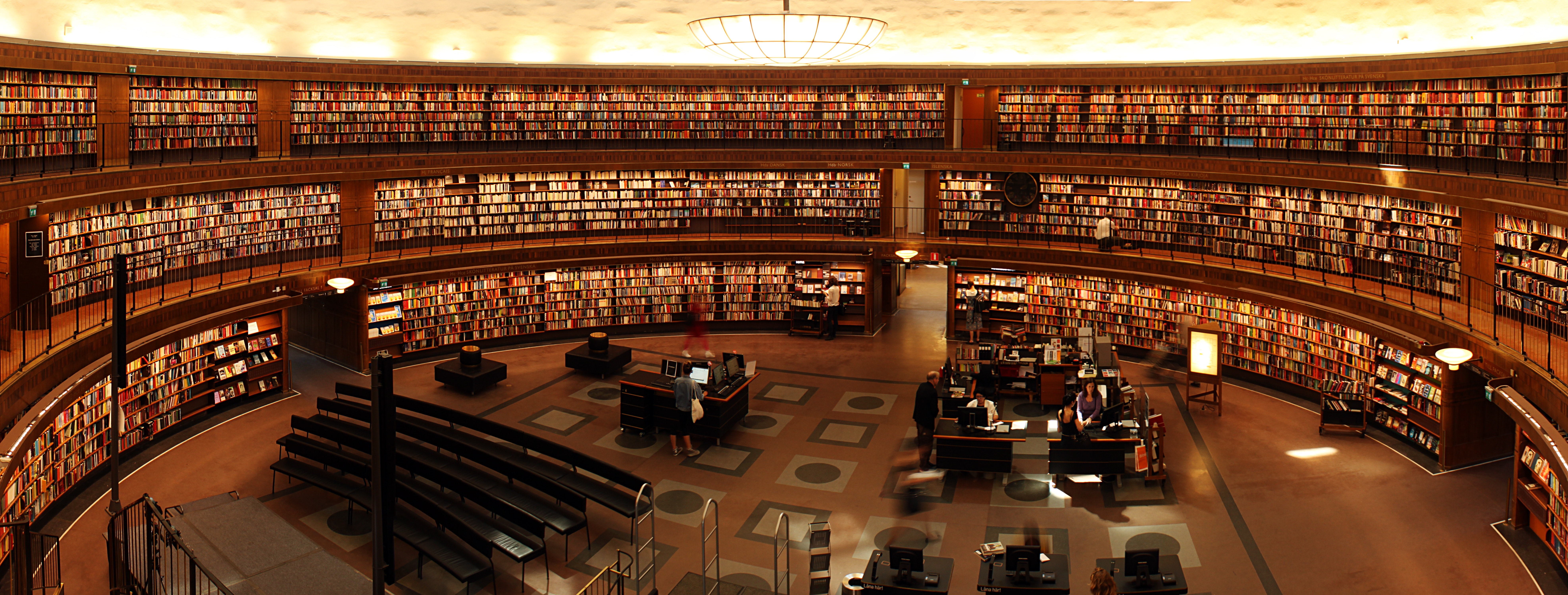 Photography Of Library Room Free Stock Photo