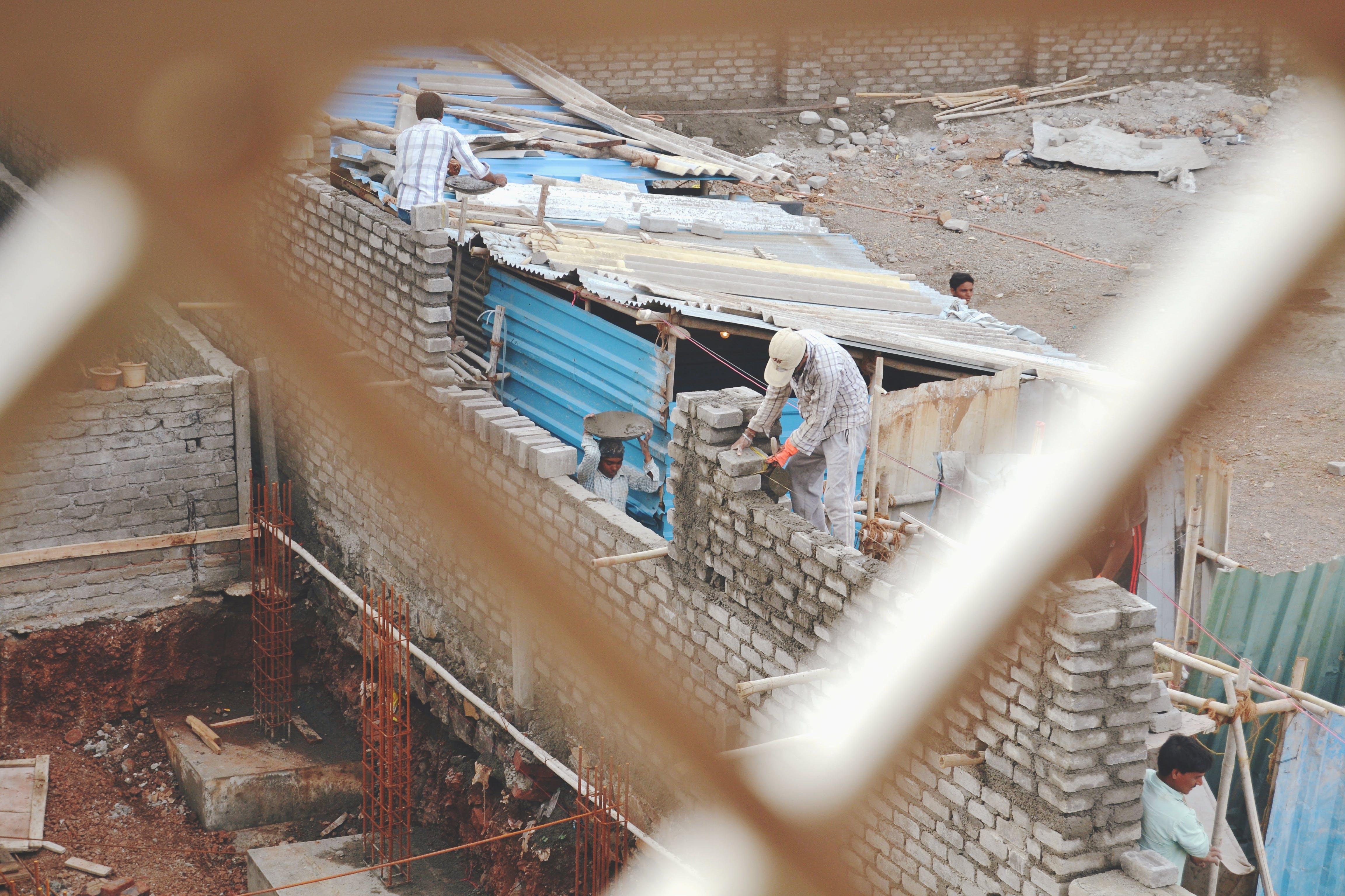 Ảnh lưu trữ miễn phí về Ấn Độ, công nhân, công nhân xây dựng, công trình xây dựng