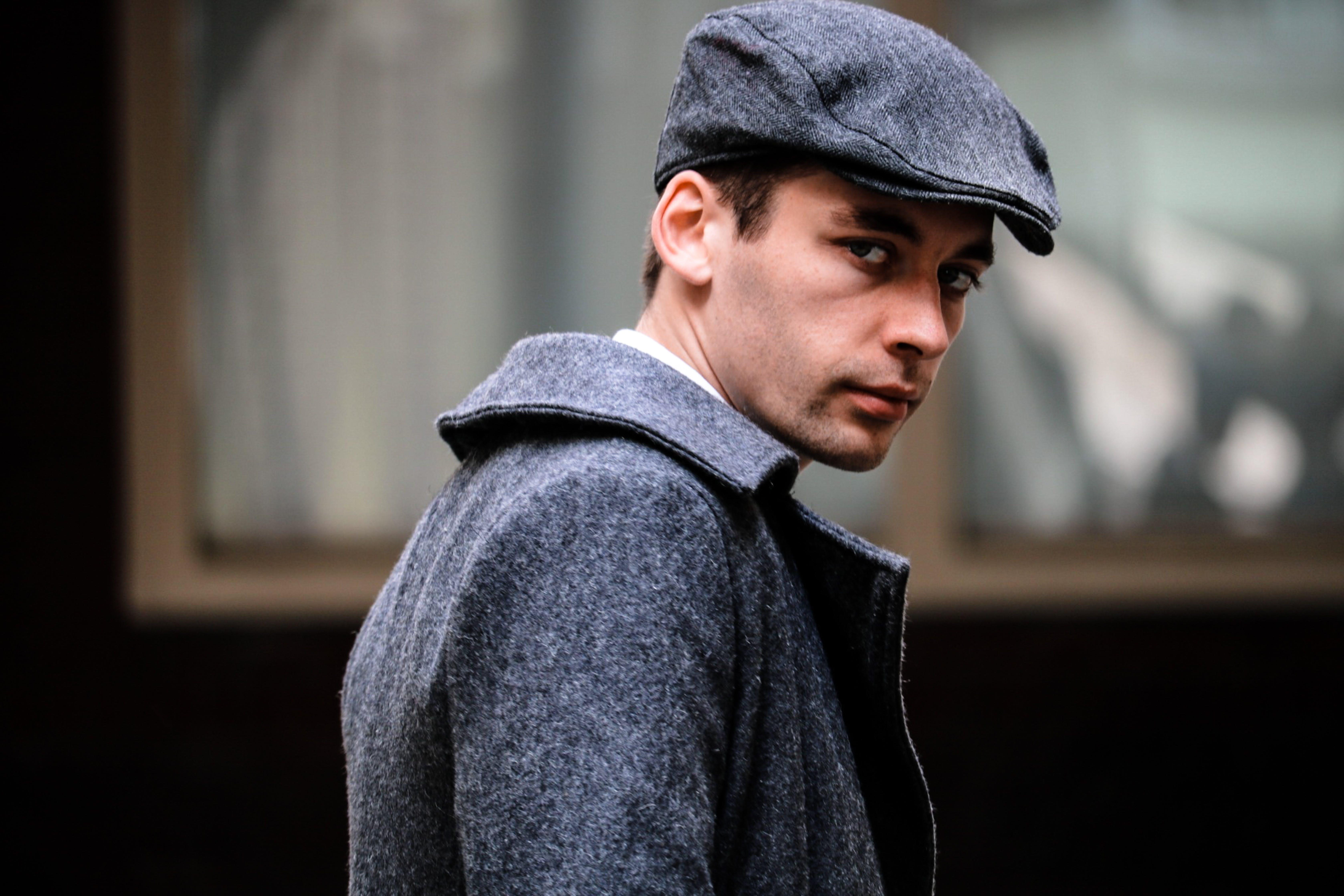 Man in Gray Coat Photo