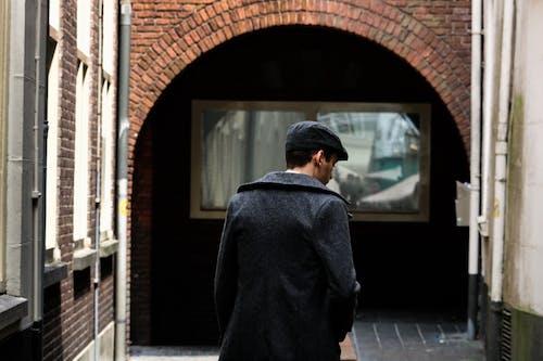거리, 남자, 낮, 도시의의 로열티 프리 이미지