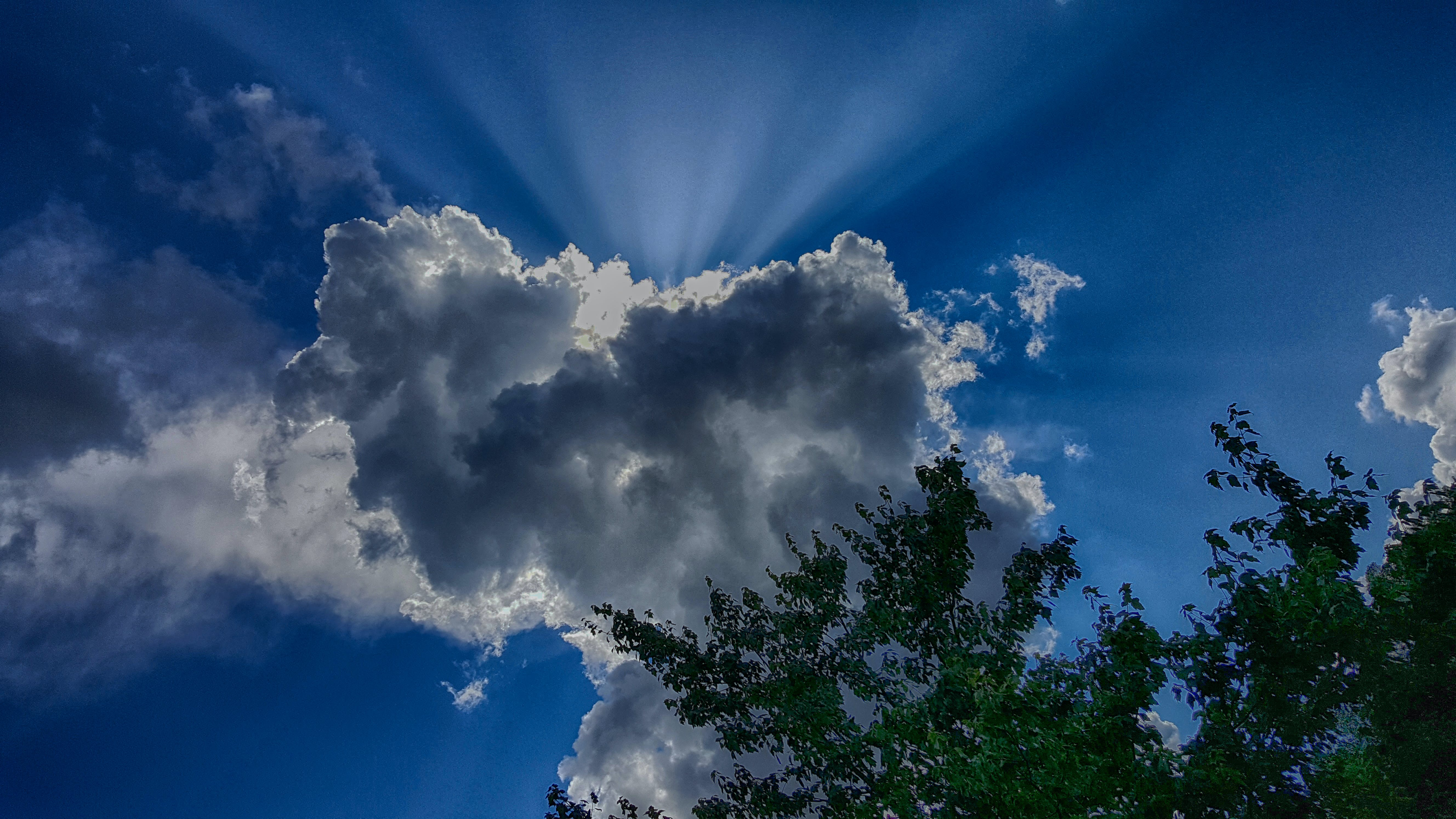 Free stock photo of clouds, sun ray