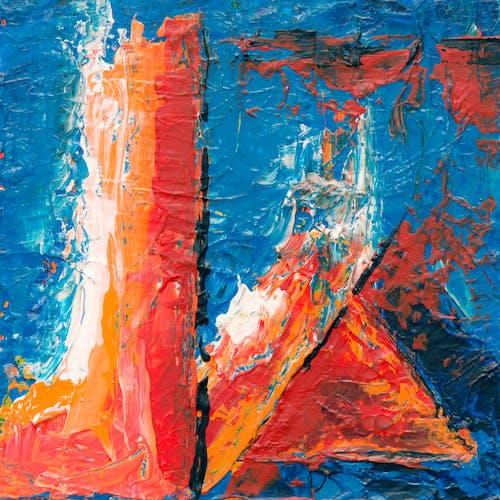 Бесплатное стоковое фото с Абстрактная живопись, акриловая краска, беспорядочный, дизайн