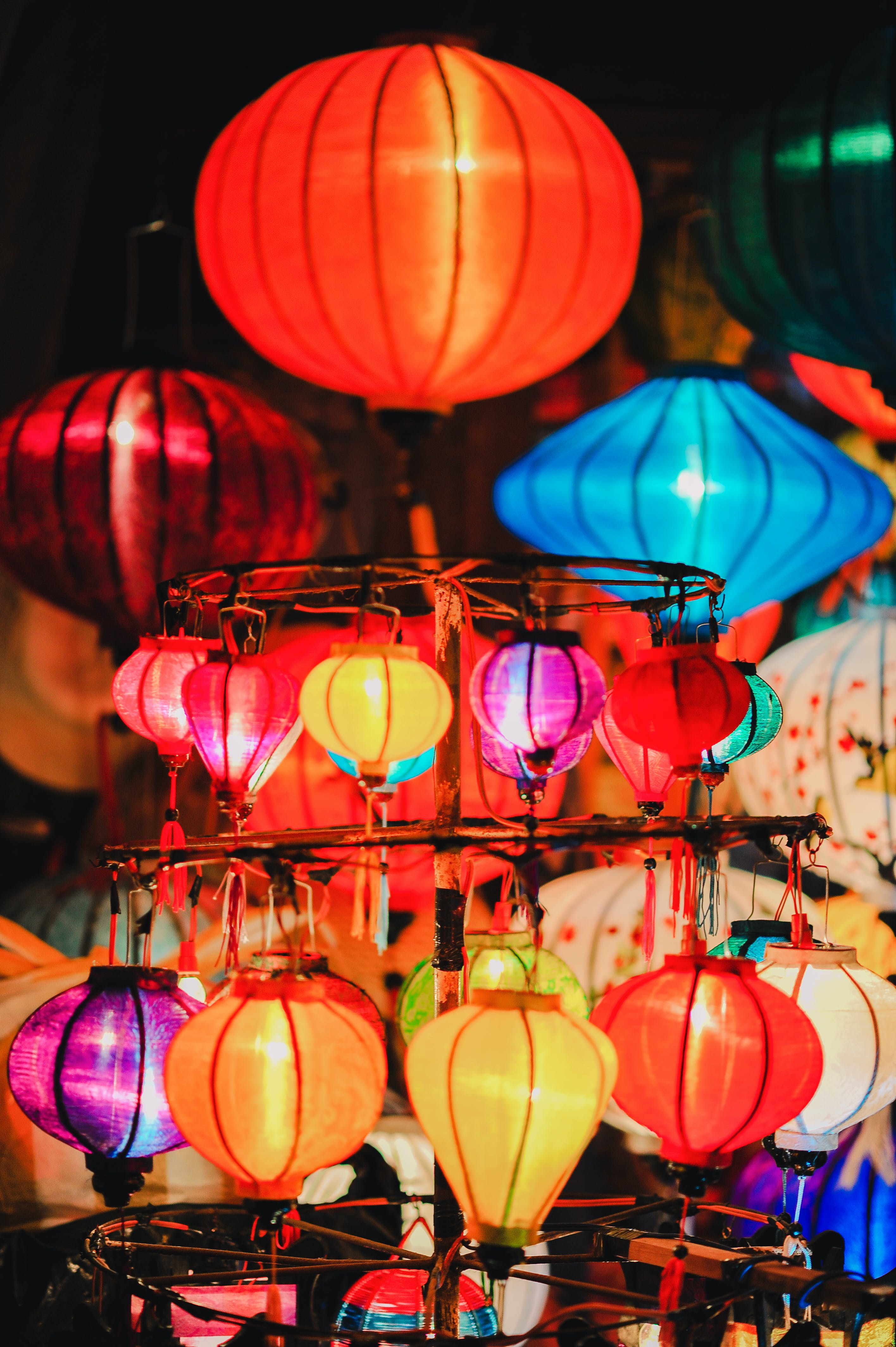 Photo of Lighted Lantern Lamps