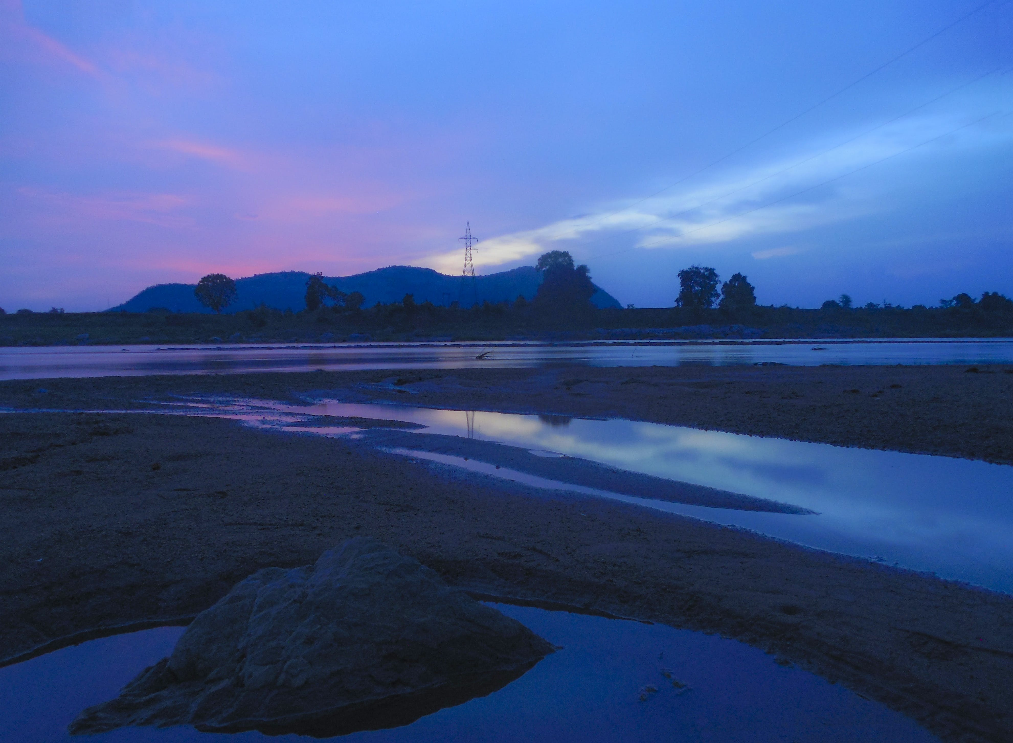 Free stock photo of beautiful, BLUE HOURS, cyan, evening sky