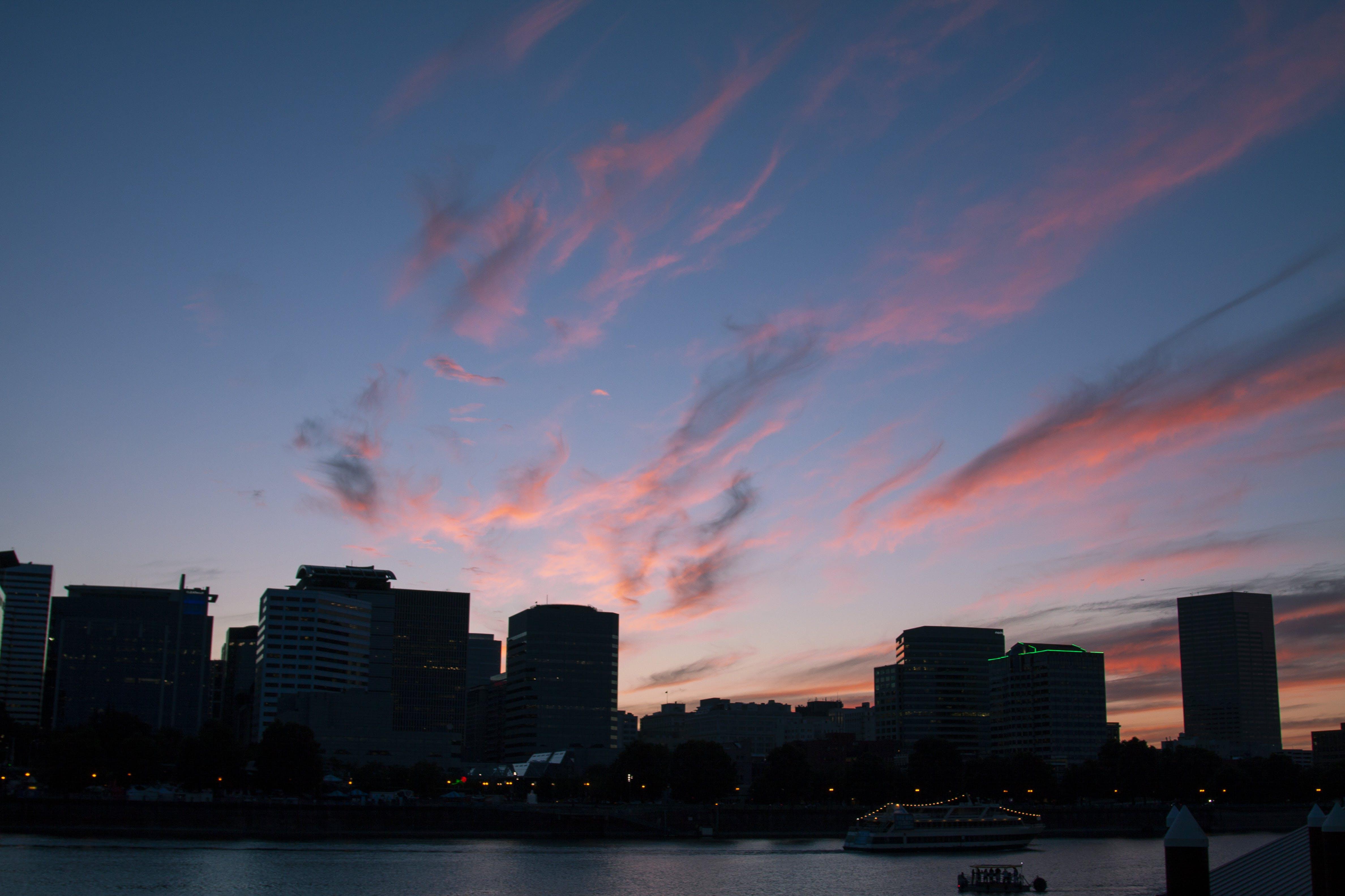 Free stock photo of city, Portland, sunsuet, waterfront