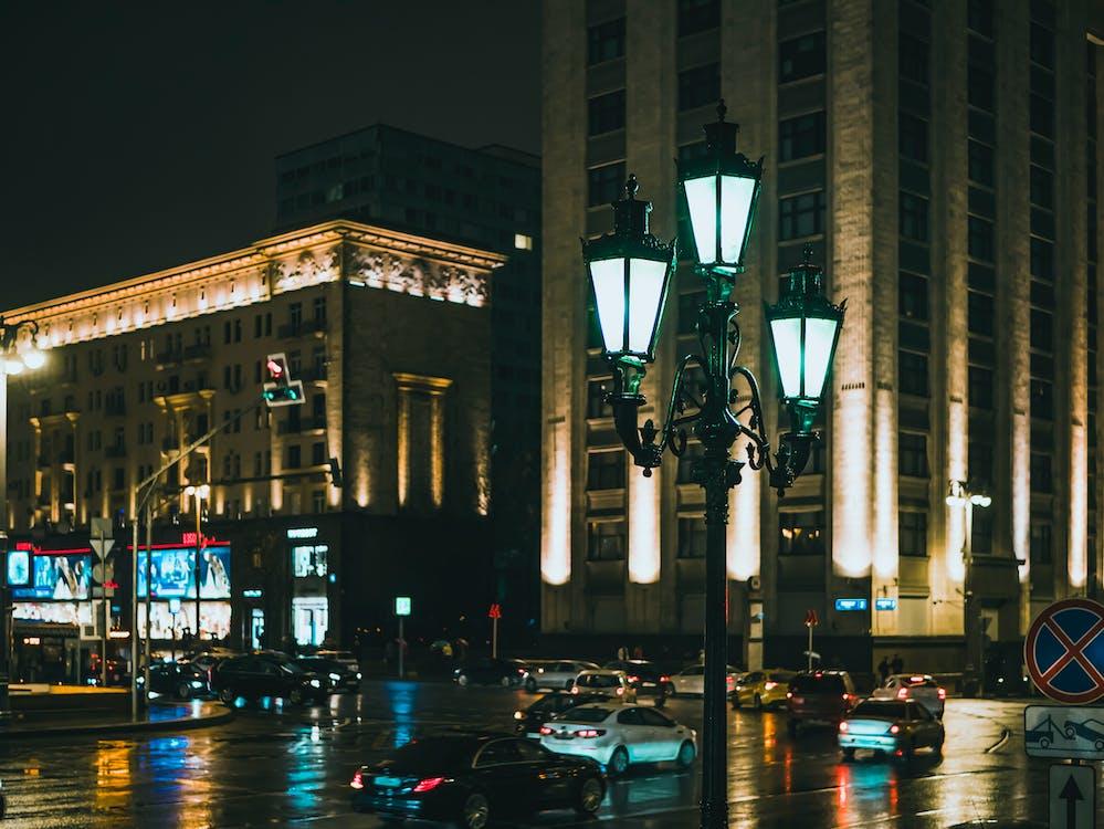 arkkitehtuuri, autot, hotelli