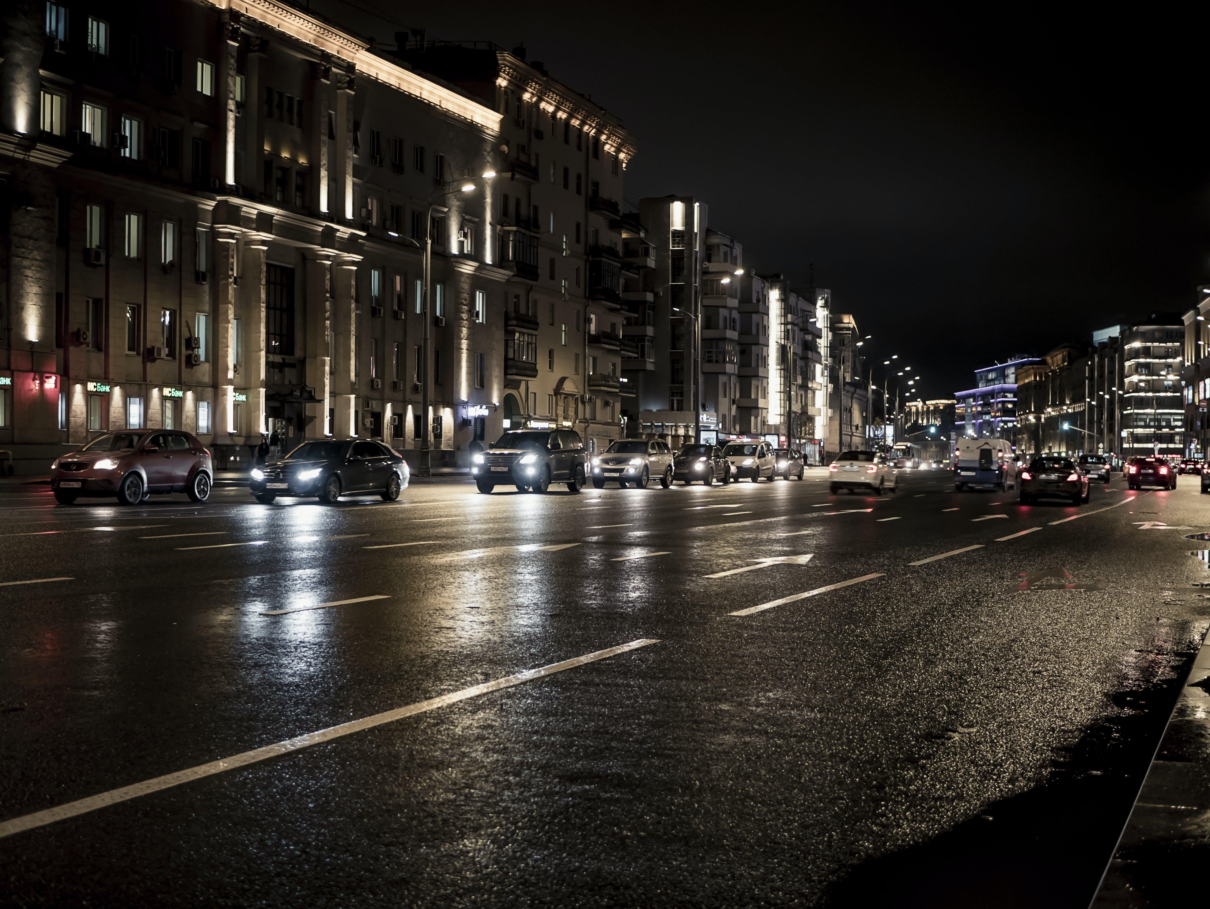 Free stock photo of light, city, cars, traffic