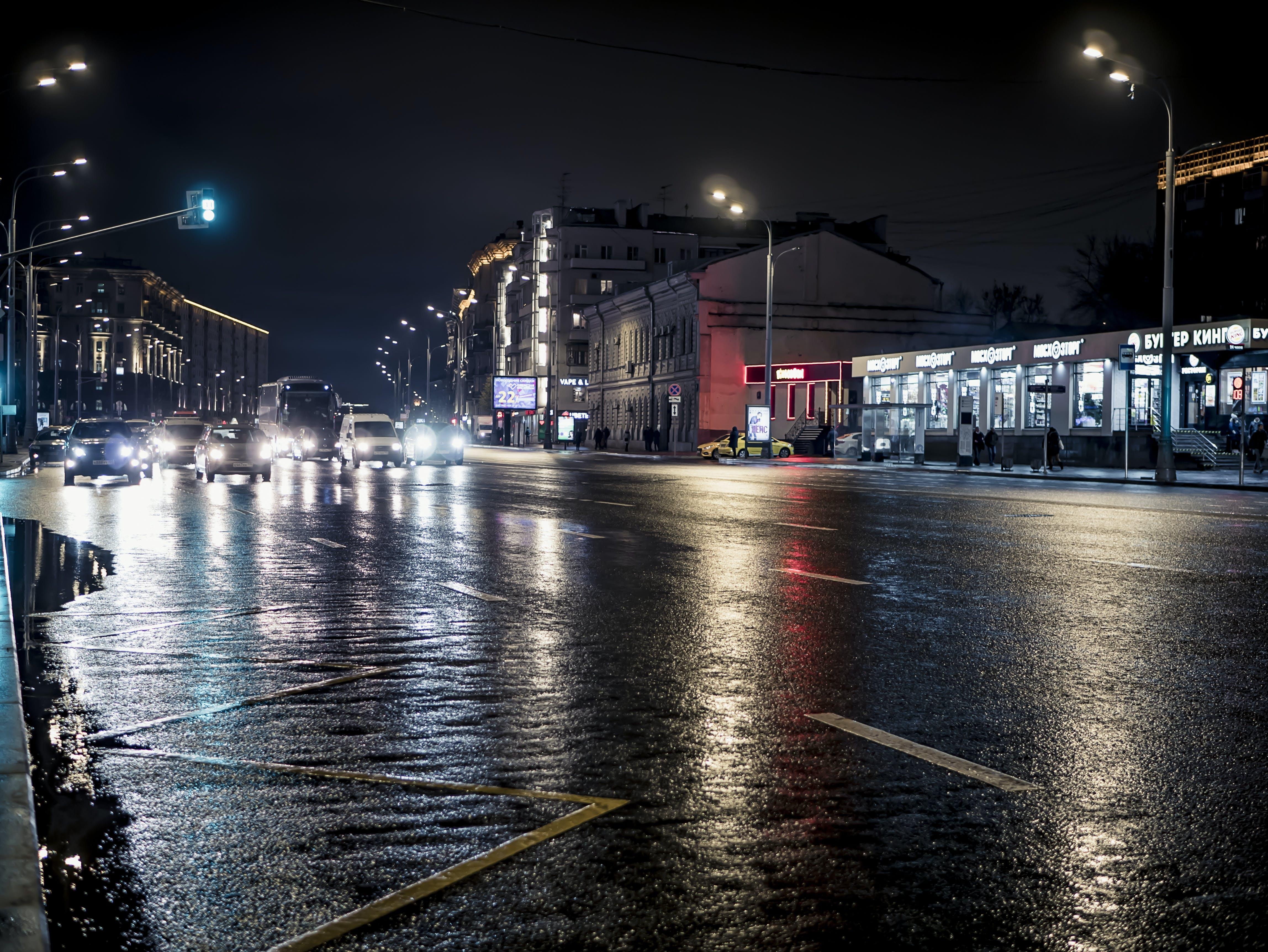 Free stock photo of light, sea, city, cars
