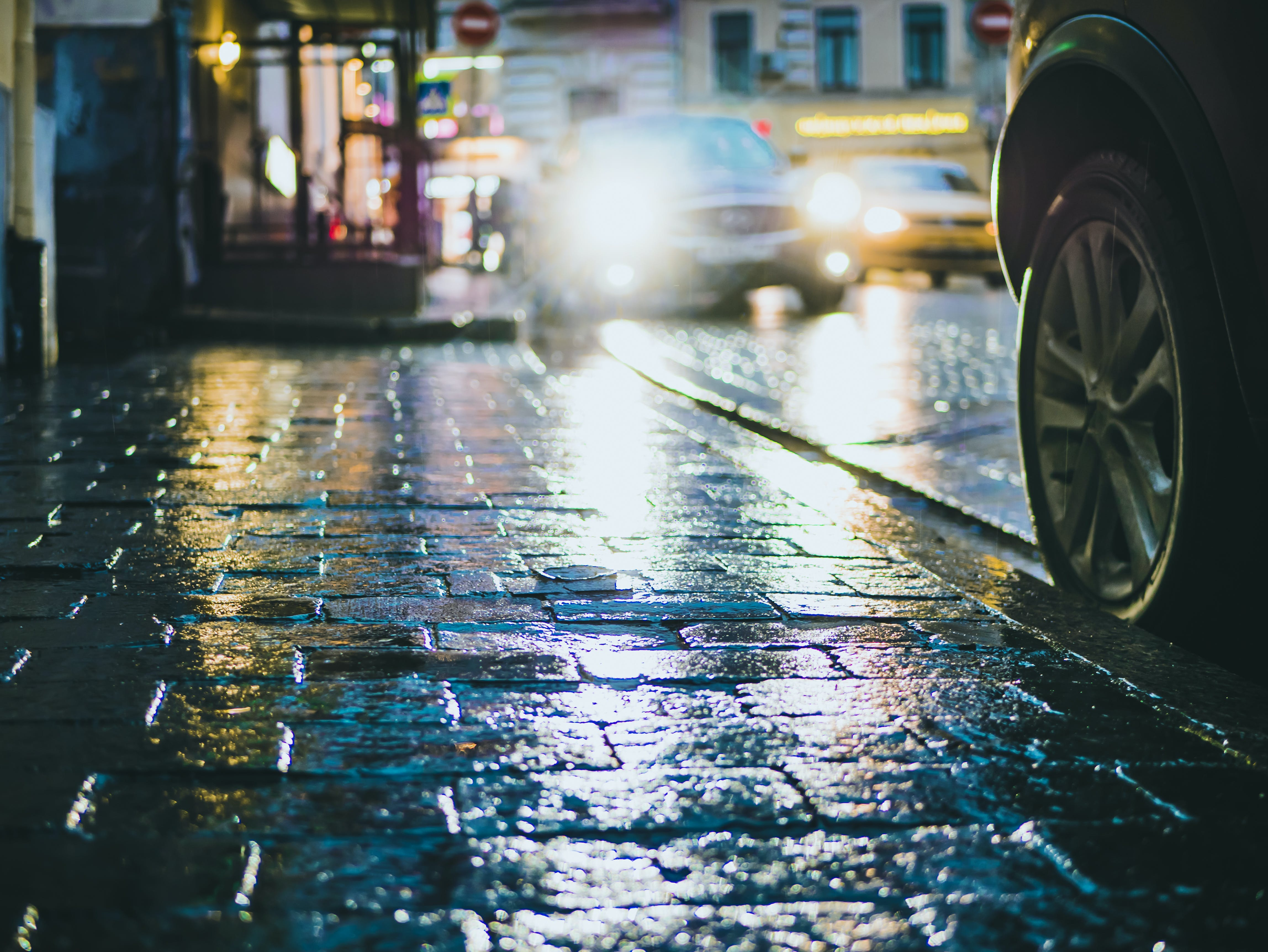 Photography of Street during Rainy Day