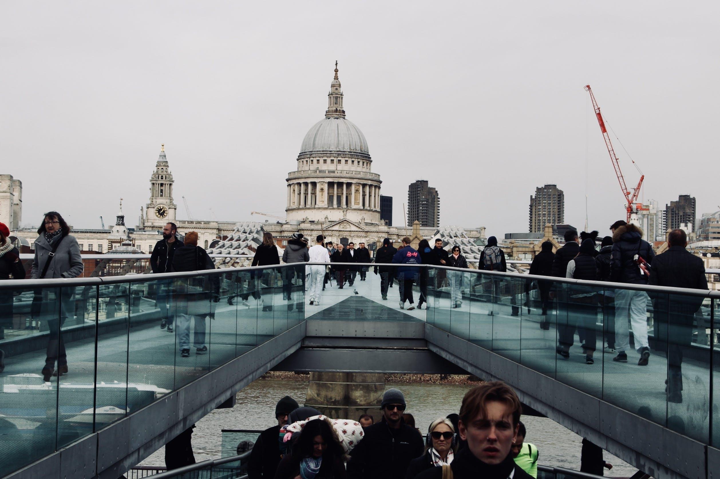 Free stock photo of bridge, church, crane, london