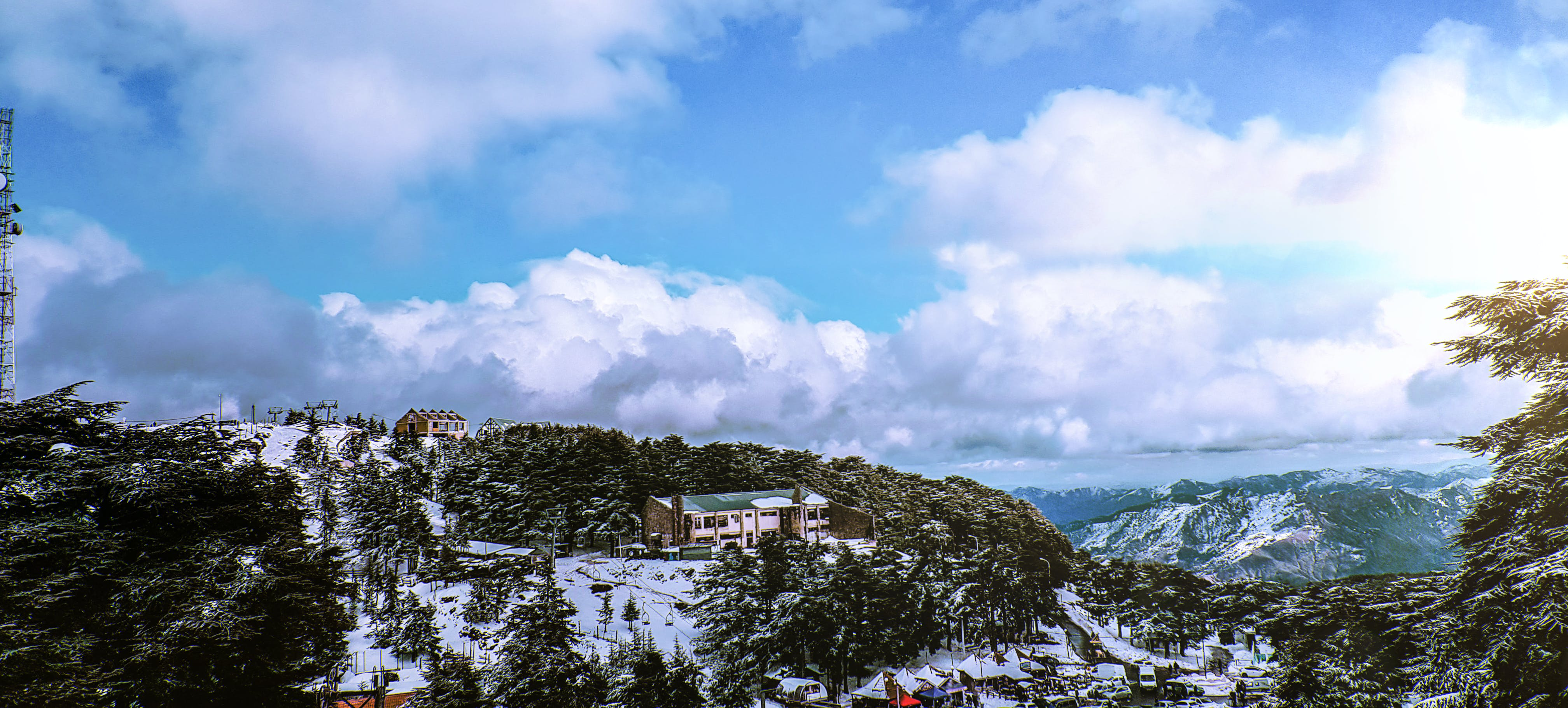 Free stock photo of clouds, hills, house, ice