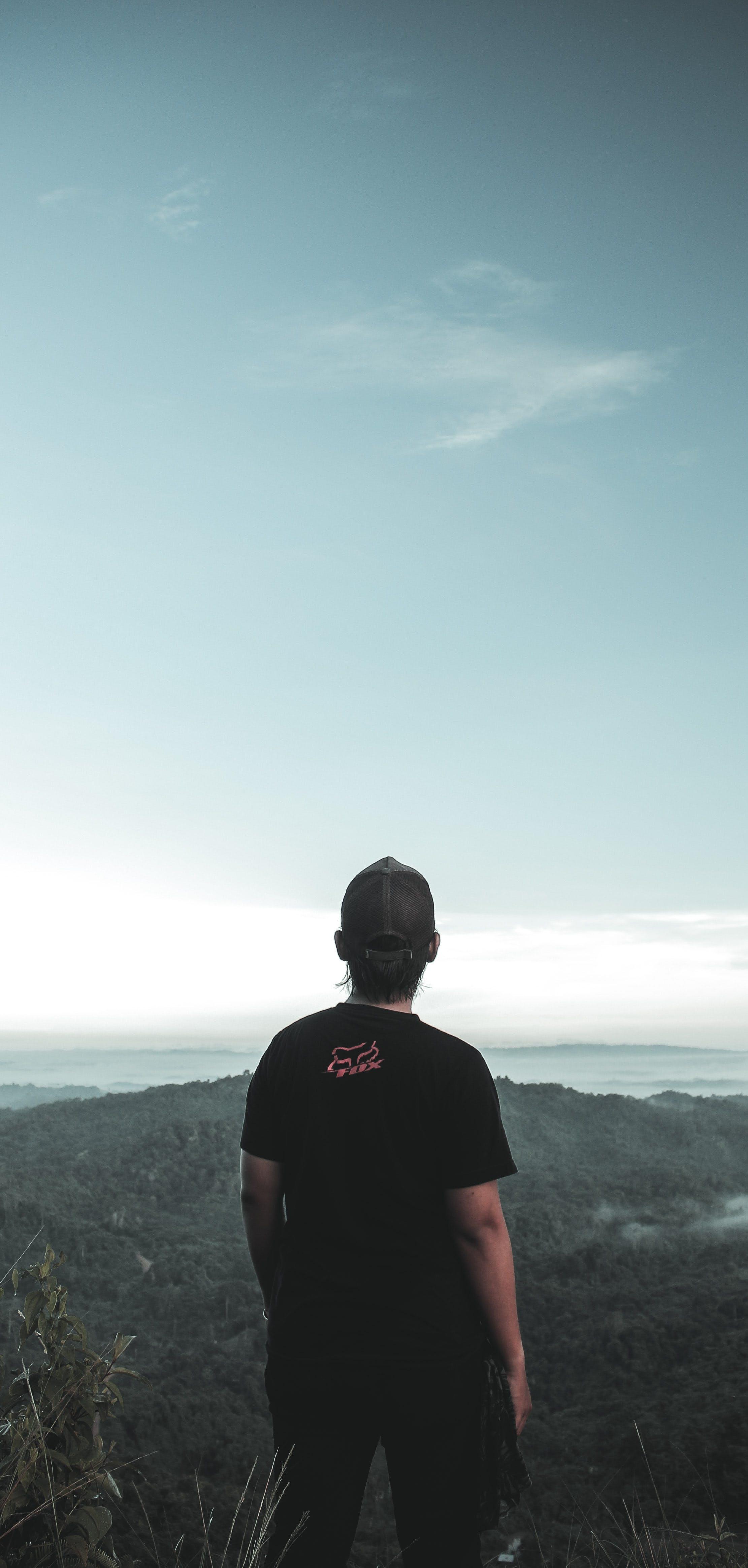 Kostenloses Stock Foto zu draußen, einsamkeit, gipfel, hinterleuchtet