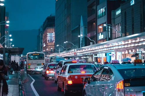 Photo of Traffic Jam at Night.